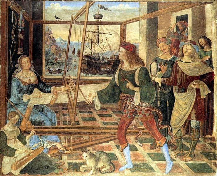 פינטוריצ'יו - שיבת אודיסיאוס 1509