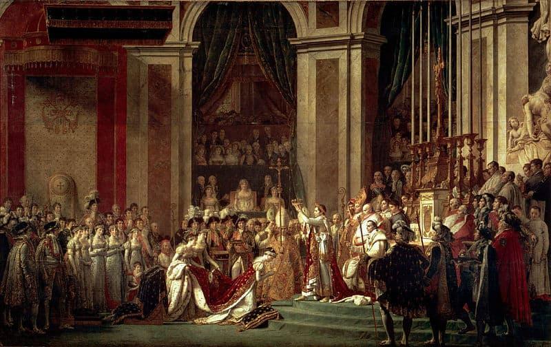 ציורו של דויד (1807) המתאר את הכתרת נפוליאון לקיסר