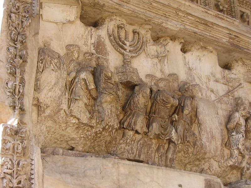 המנורה בשער טיטוס