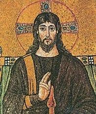 ישו בפסיפס בבזיליקת סנט אפולינרה נואובו ברוונה