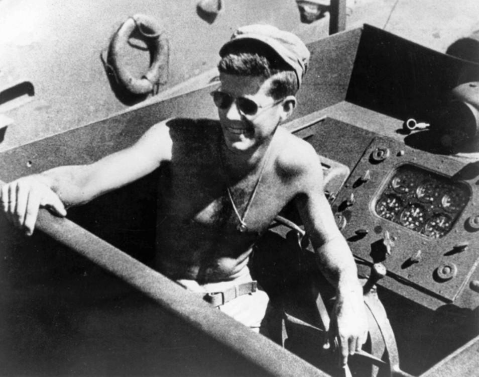 Lt._John_F._Kennedy_skipper_aboard_the_PT-109 (Large)