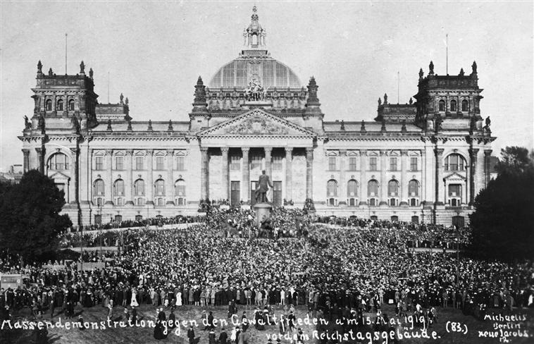 הפגנות בגרמניה נגד חוזה ורסאי