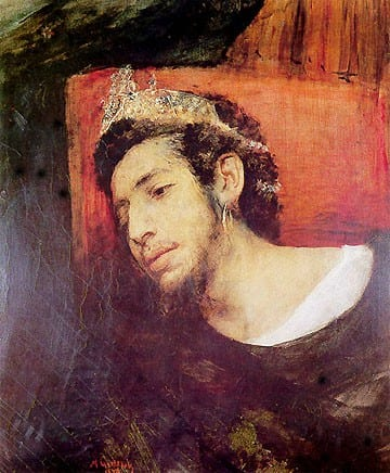 המן. מאוריצי (משה) גוֹטליבּ .  אמן יהודי פולני. נפטר בגיל 23.  יותר מ-300 ציורים שלו שרדו, לא כולם הושלמו.