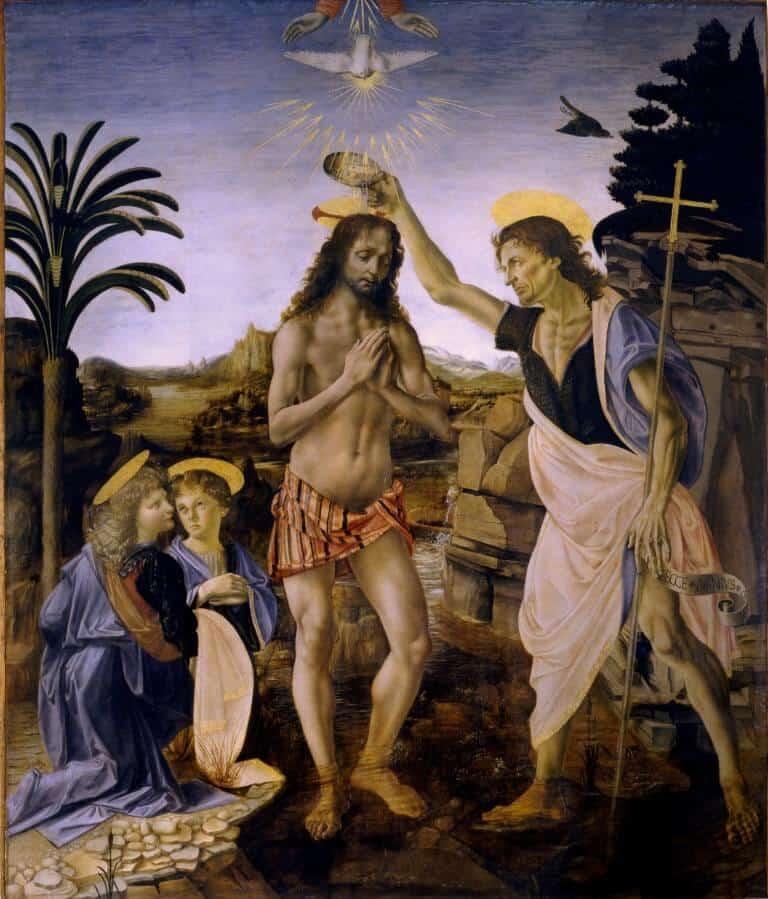 הטבלתו של ישו (ורוקיו ודה וינצ'י)