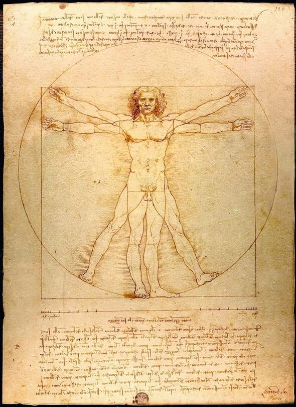 Vitruvian Man c. 1492.