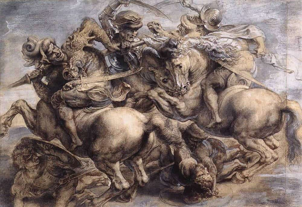 the-battle-of-anghiari by Rubens