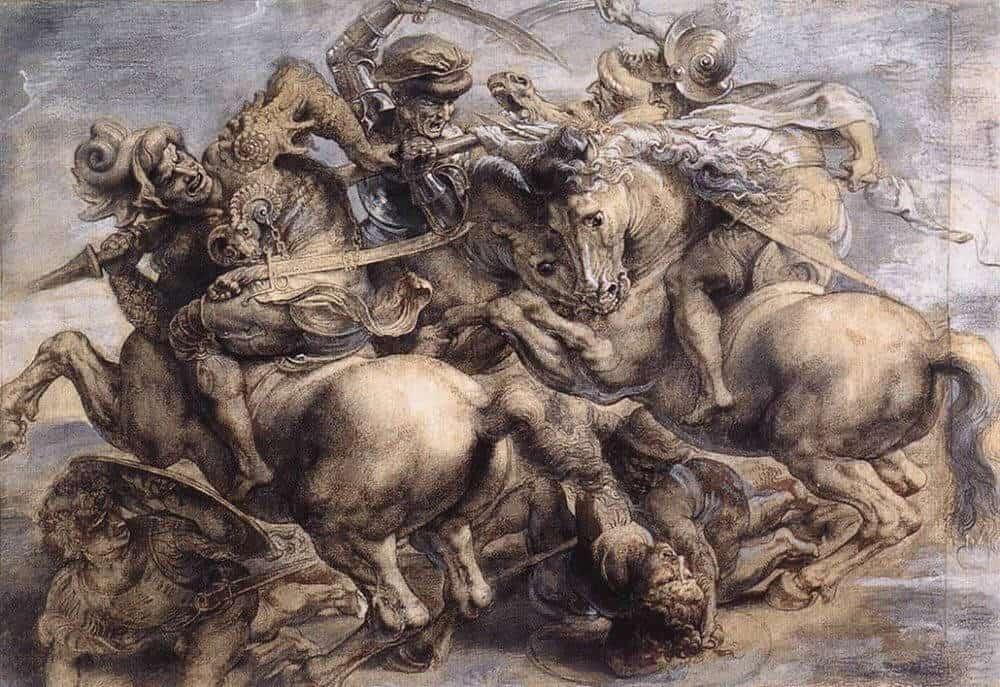 the-battle-of-anghiari by Rubens