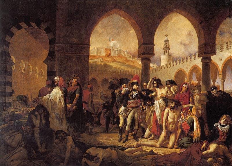 נפוליאון במנזר הארמני ביפו משוחח עם חולי דבר