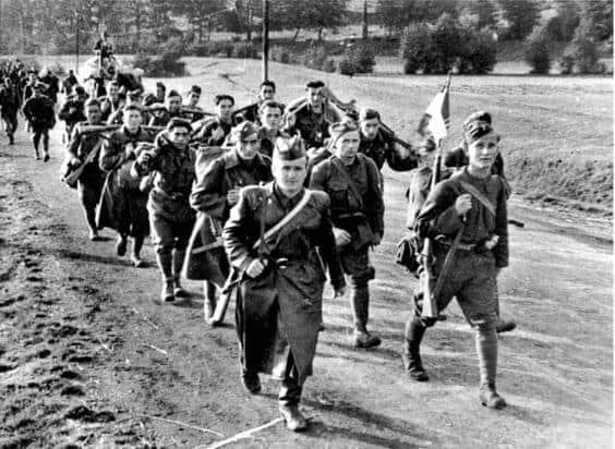 slovak partisans near Banska