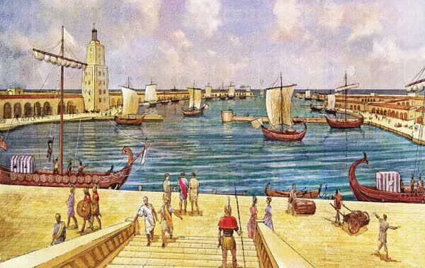 נמל-קיסריה-בתקופה-הרומית